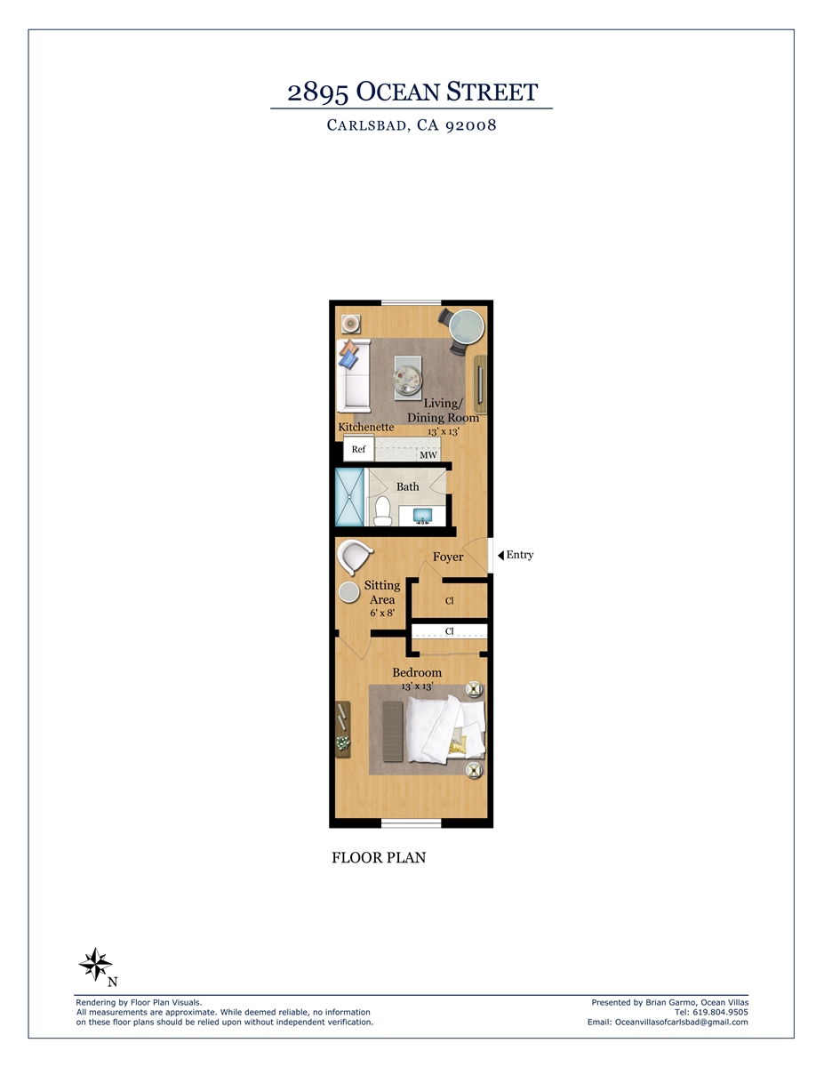 Floor Plan for Unit I